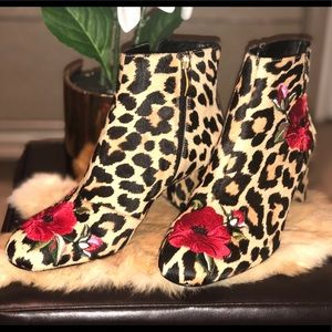 Kate spade animal floral  print booties